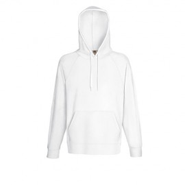Lightweight Hooded Sweat de Adulto - Branco