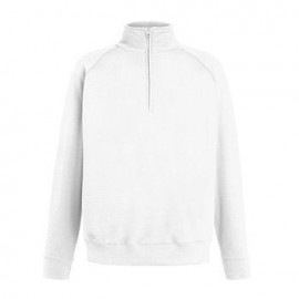 Sweat Half Zip Lightweight 240gr - Branca