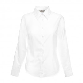 Camisa Lady Fit de manga comprida Oxford 130 gr.